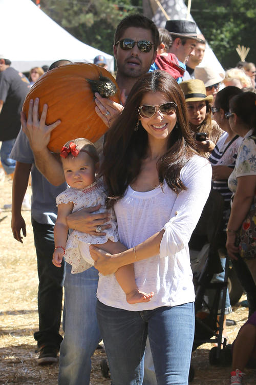 Roselyn Sanchez and Family spend time at Mr. Bones